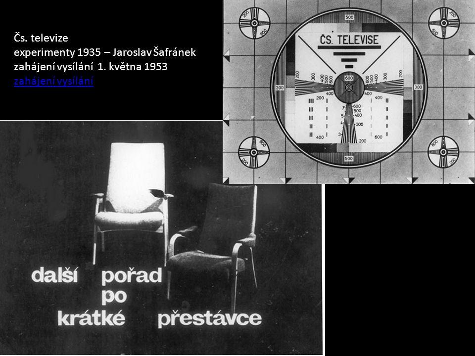 Čs. televize experimenty 1935 – Jaroslav Šafránek zahájení vysílání 1.
