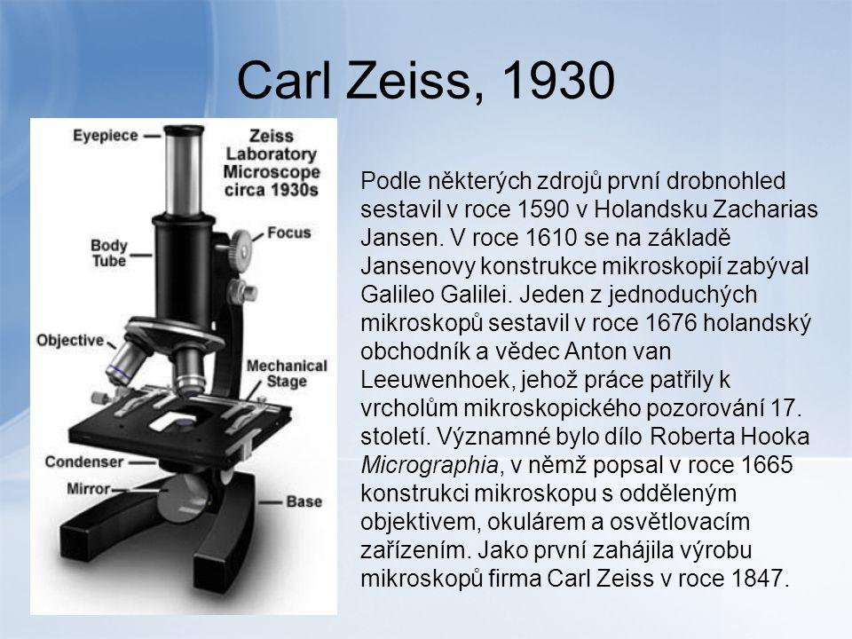 Současný světelný mikroskop Světelná mikroskopie zahrnuje průchod viditelného světla, které prochází, nebo se odráží od pozorovaného objektu skrz optickou čočku, nebo sérii čoček.
