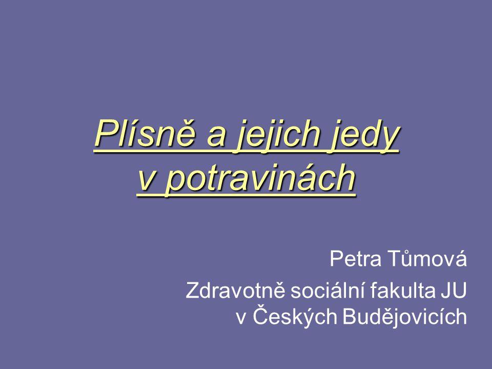 Plísně a jejich jedy v potravinách Petra Tůmová Zdravotně sociální fakulta JU v Českých Budějovicích