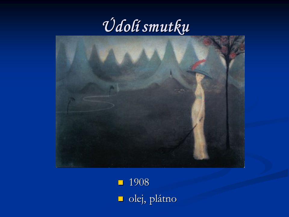 Údolí smutku 1908 olej, plátno