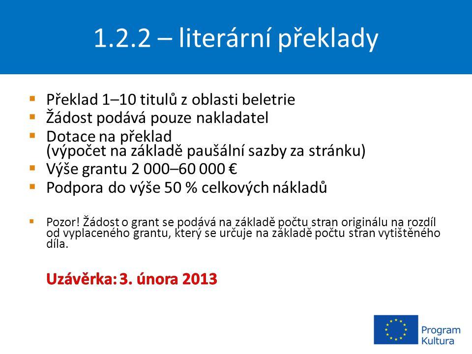 1.2.2 – literární překlady