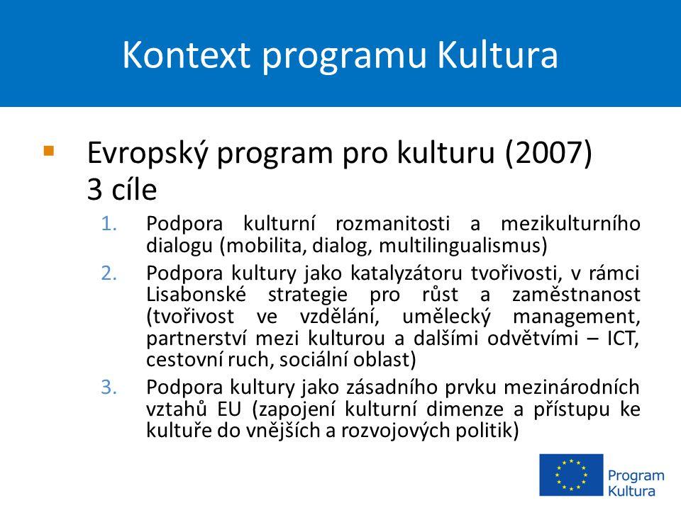 Další vhodné programy EU  MEDIA  Program celoživotního učení – Grundtvig  Mládež v akci  Evropa pro občany  7.