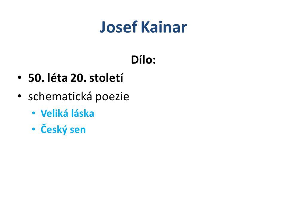 Josef Kainar Dílo: 60.léta 20.