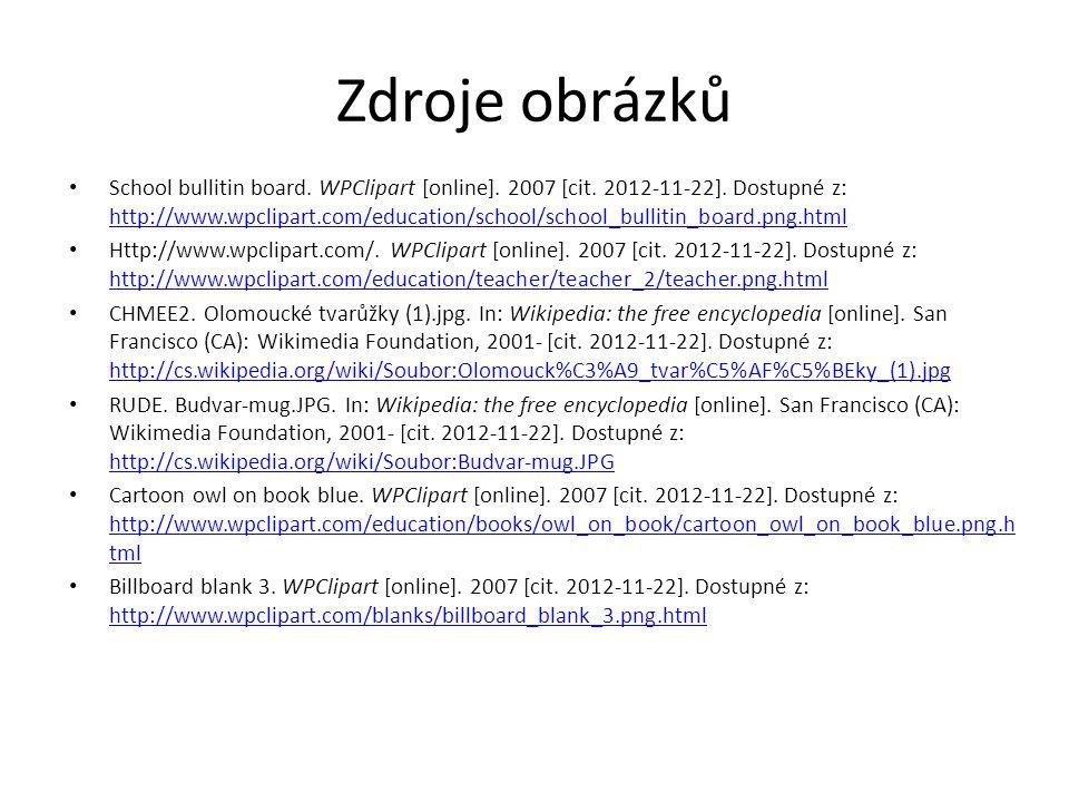 Zdroje obrázků School bullitin board. WPClipart [online].