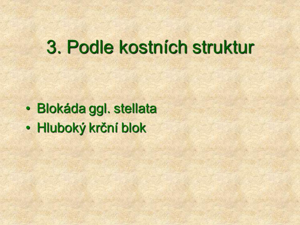3.Podle kostních struktur Blokáda ggl. stellataBlokáda ggl.