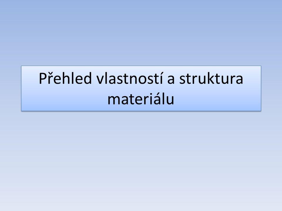 Vlastnosti materiálů Jednotlivé druhy materiálů se vyznačují různými vlastnostmi Vlastnosti materiálů určují jejich vhodnost k použití Vlastnosti jsou dány např.