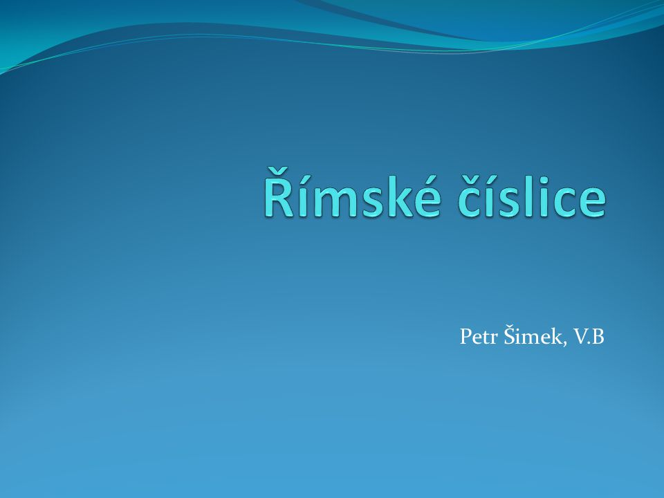 Petr Šimek, V.B