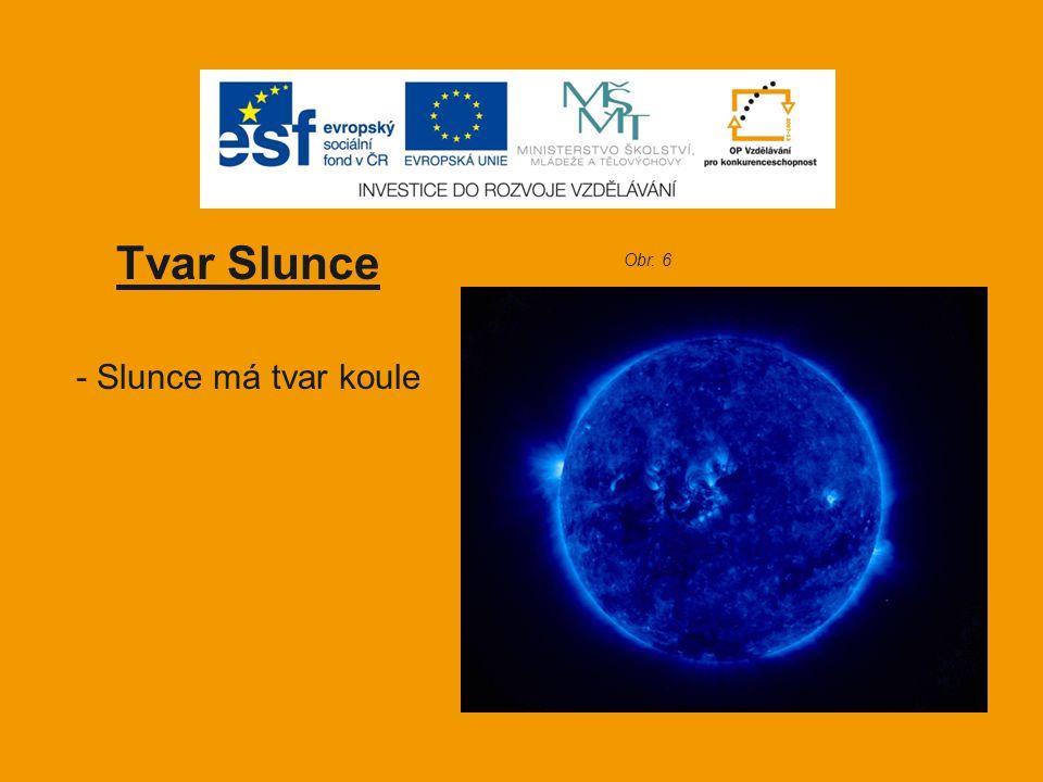 Tvar Slunce - Slunce má tvar koule Obr. 6