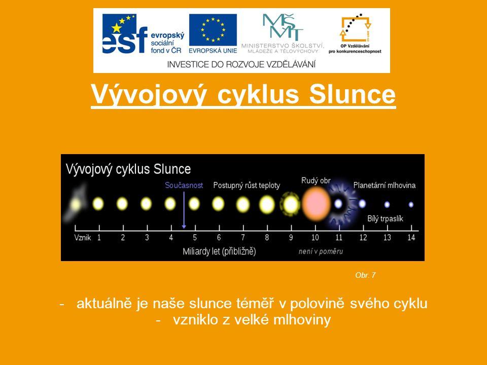 - ve vesmíru se nachází nesčetné množství sluncí - krátké video pro porovnání velikosti našeho Slunce s planetami a ostatními slunci ve vesmíru Obr.