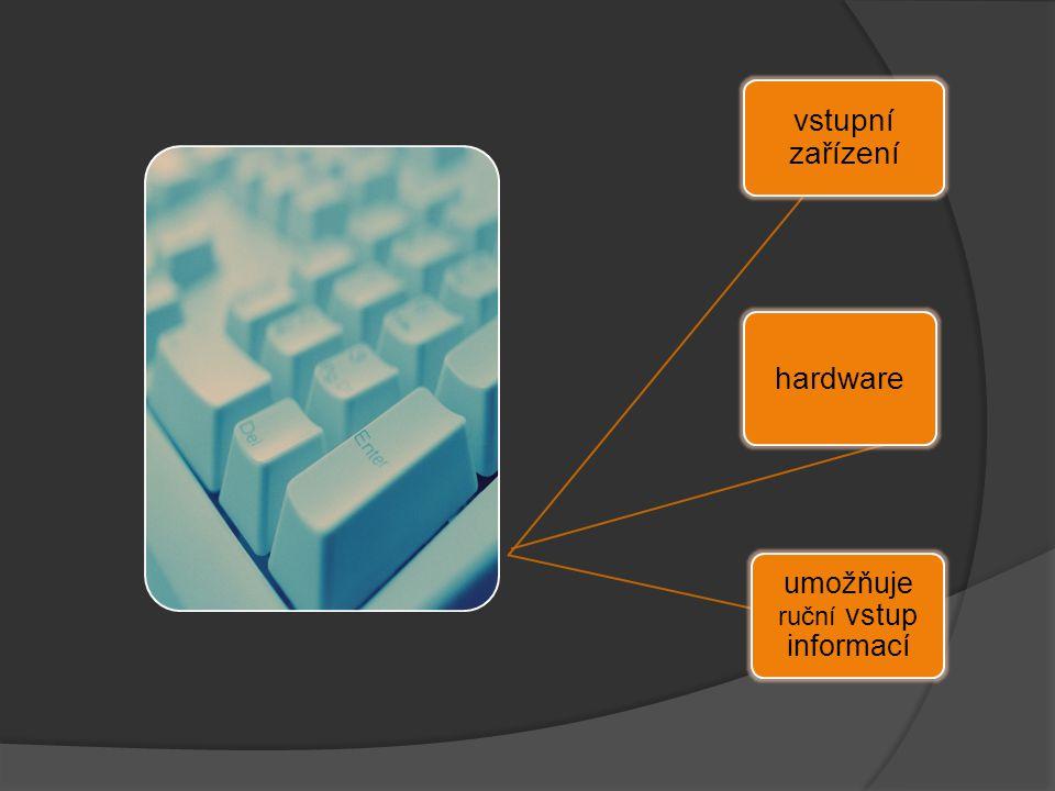 vstupní zařízení hardware umožňuje ruční vstup informací