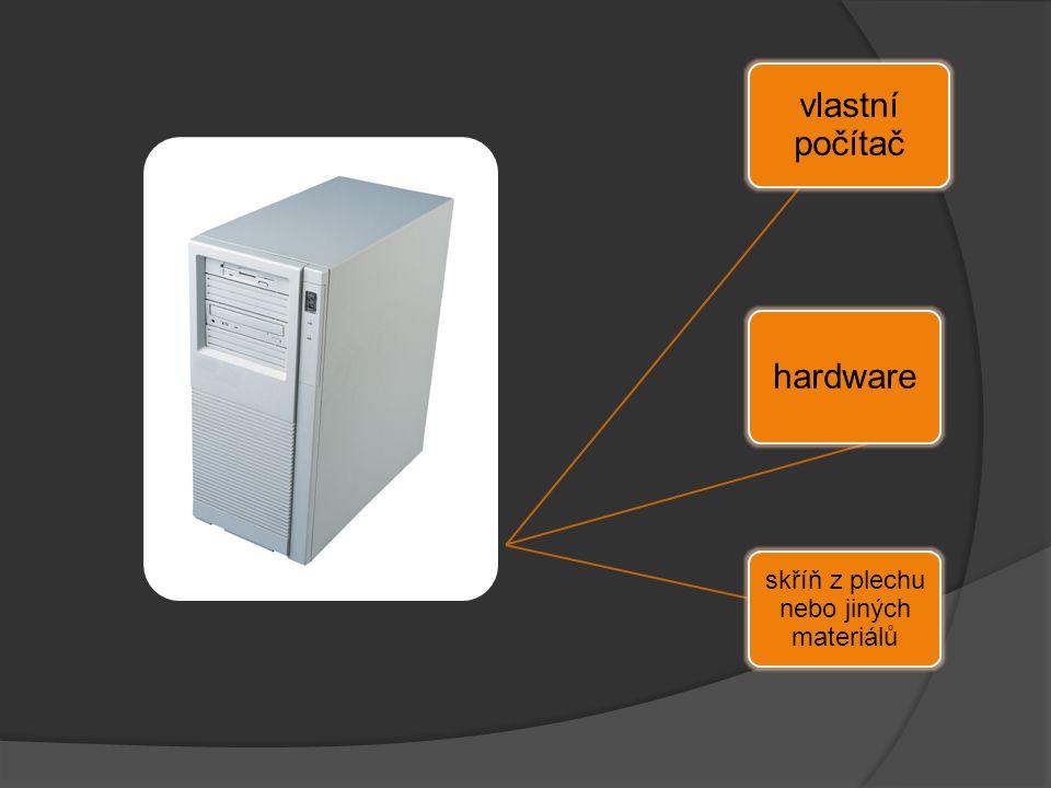 vlastní počítač hardware skříň z plechu nebo jiných materiálů