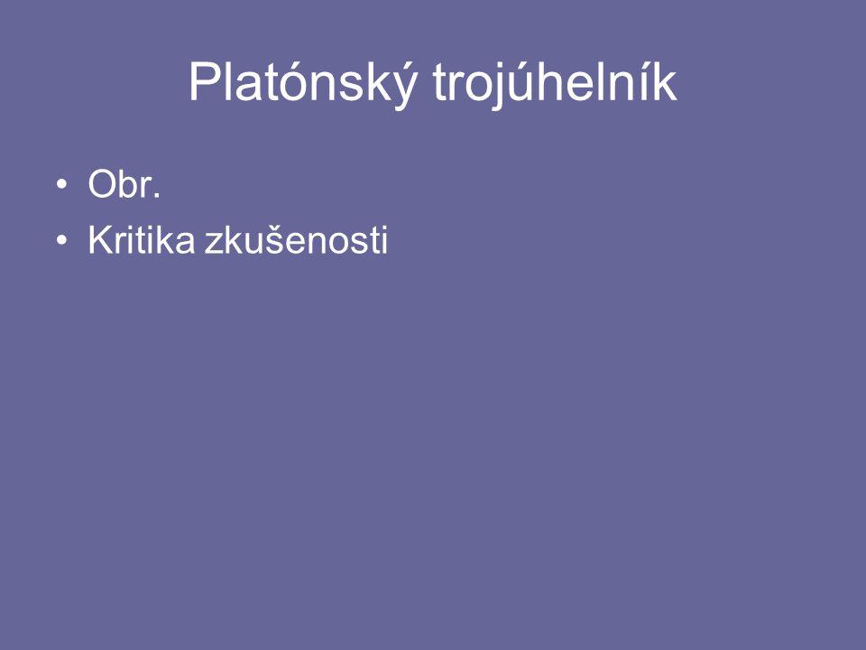 Platónský trojúhelník Obr. Kritika zkušenosti