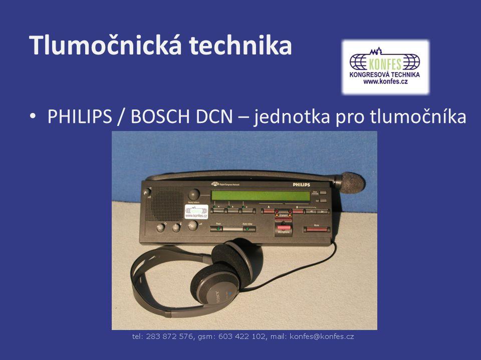Tlumočnická technika PHILIPS / BOSCH DCN – jednotka pro tlumočníka