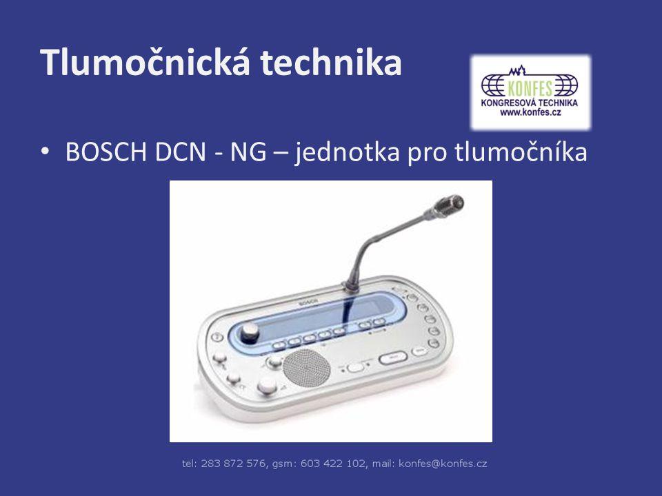 Tlumočnická technika BOSCH DCN - NG – jednotka pro tlumočníka