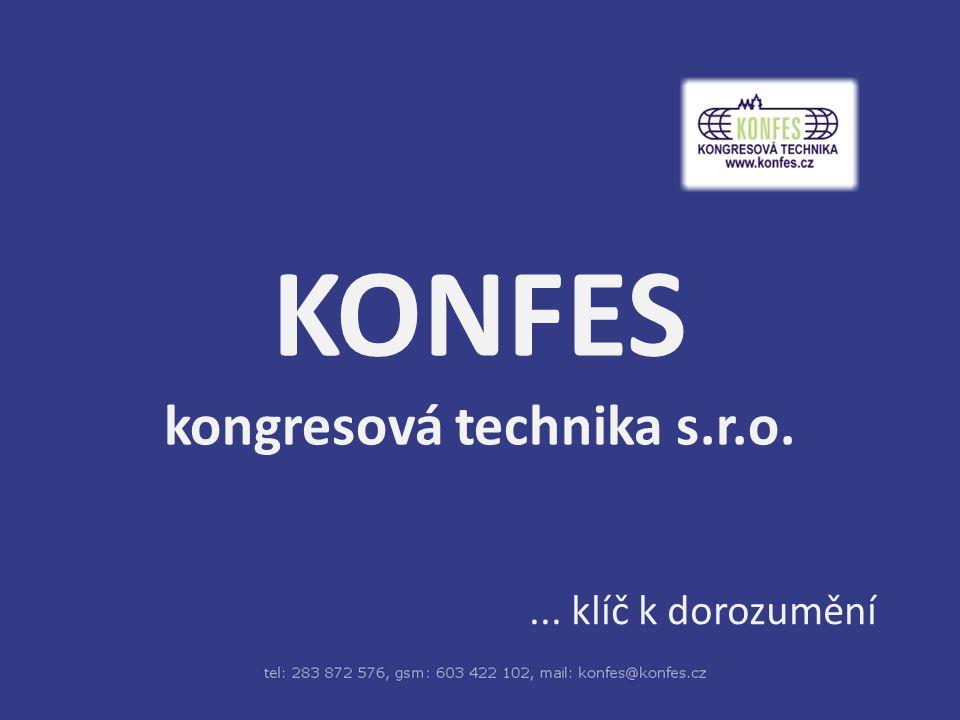 KONFES kongresová technika s.r.o.... klíč k dorozumění
