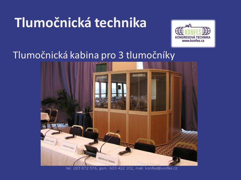 Tlumočnická technika Tlumočnická kabina malá – na stůl