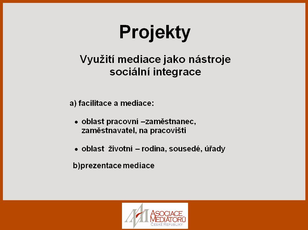 b)prezentace mediace
