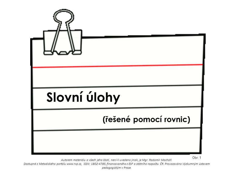 Slovní úlohy Obr.