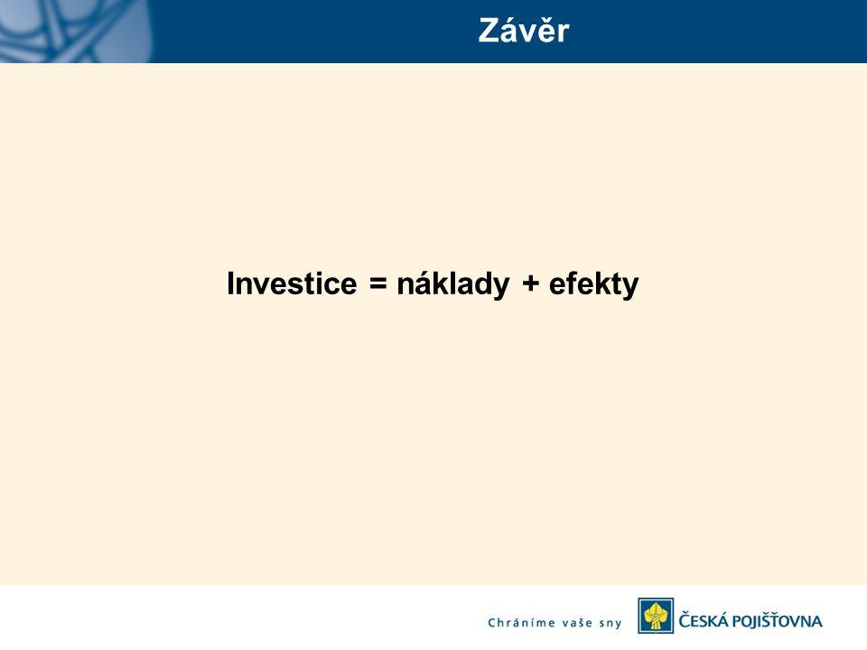 Závěr Investice = náklady + efekty