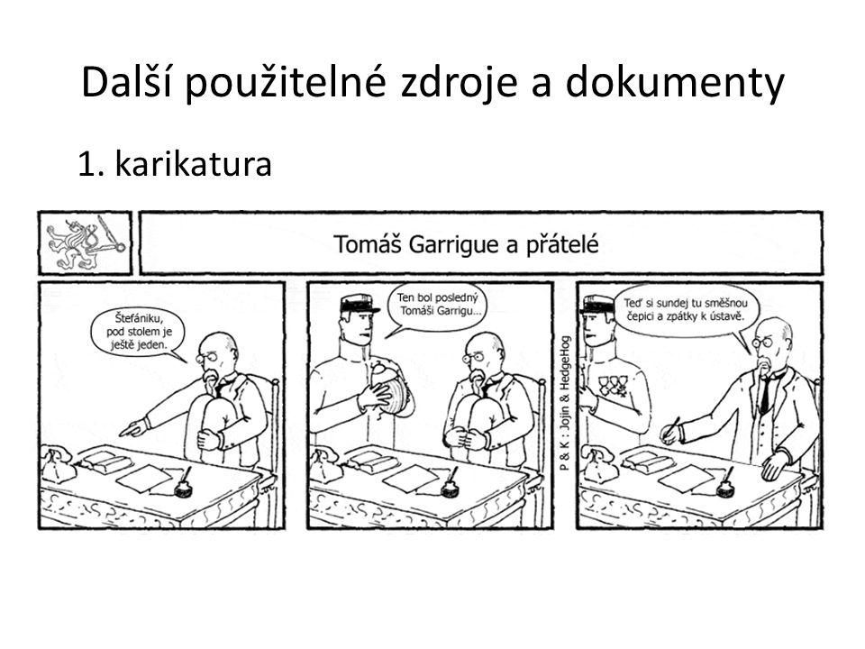 Další použitelné zdroje a dokumenty 1. karikatura