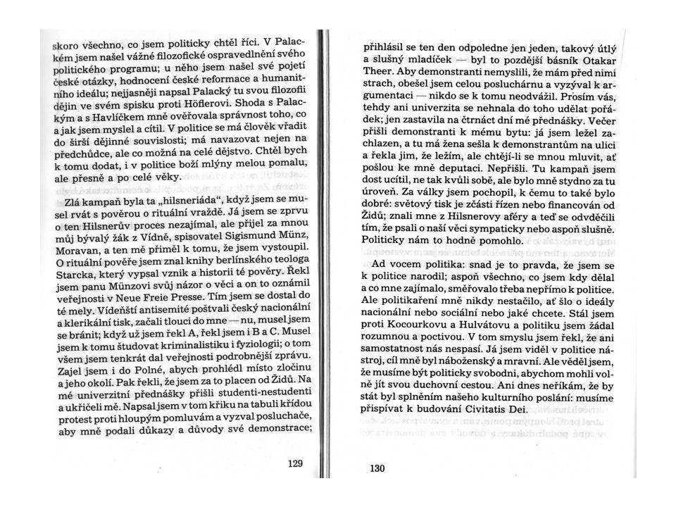Otázky k dokumentu 1.O co šlo v Hilsnerově aféře.2.Jak se v aféře Masaryk angažoval.