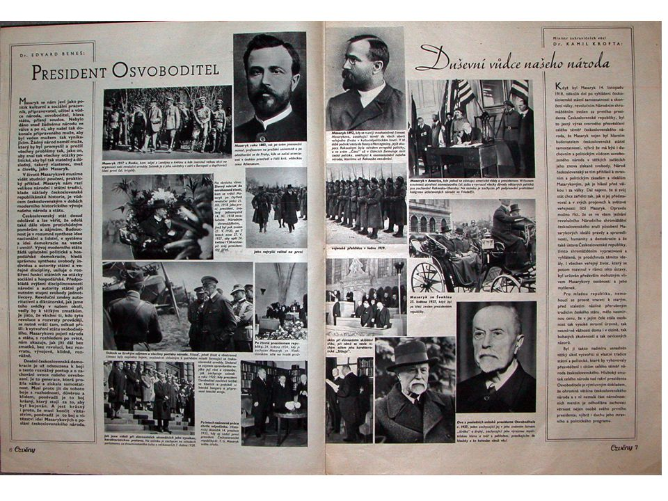 Otázky k dokumentu 1.Jak se jmenoval časopis řízený Masarykem.