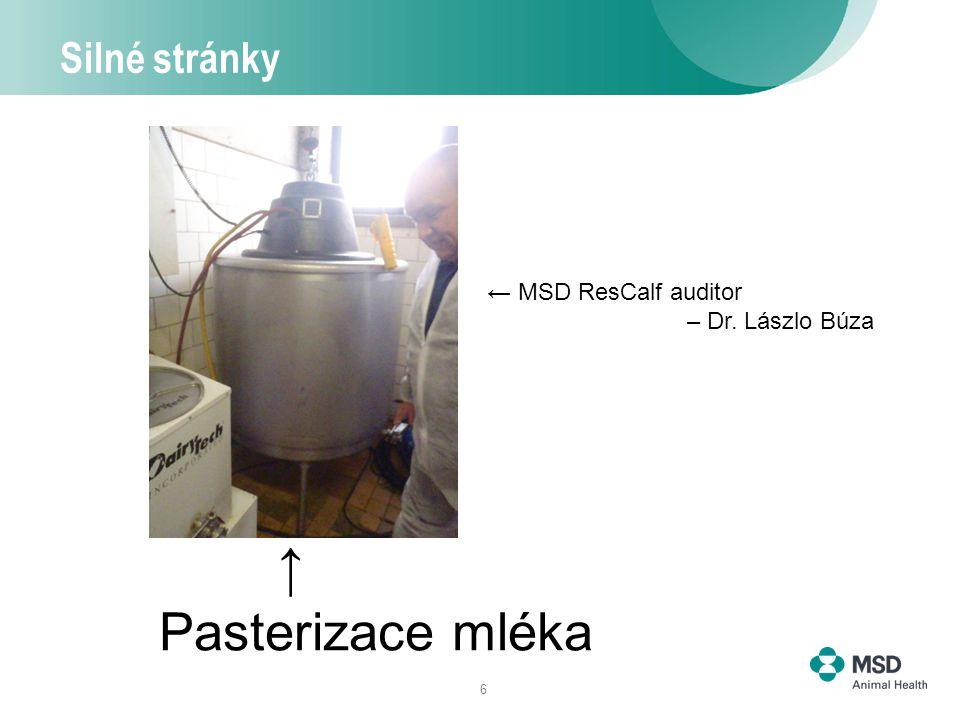 6 Silné stránky Pasterizace mléka → ← MSD ResCalf auditor – Dr. Lászlo Búza