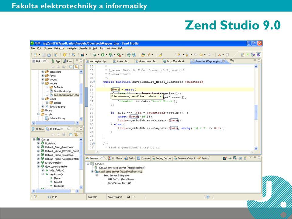 Debuging Pro debuging lze využít opensourcový debuger Xdebug (dostupný na http://http://www.xdebug.org/).