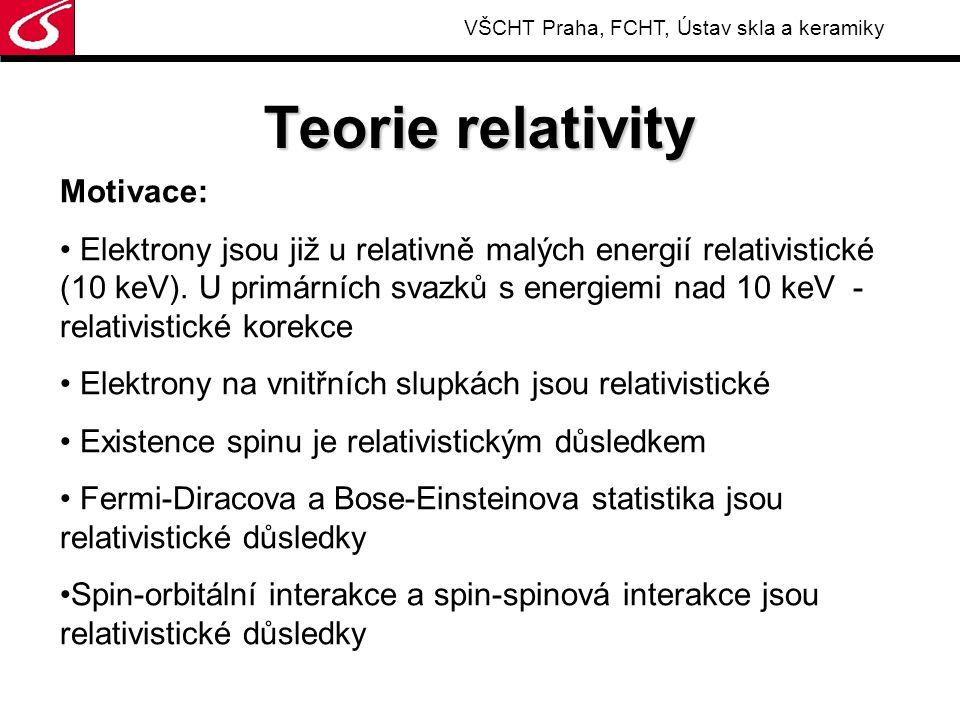 """VŠCHT Praha, FCHT, Ústav skla a keramiky Geometrická interpretace: Rotace kolem souřadných soustav Otočení v rovině Skalární součin V """"neeuklidovské metrice"""