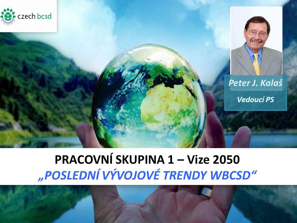 """PRACOVNÍ SKUPINA 1 – Vize 2050 """"POSLEDNÍ VÝVOJOVÉ TRENDY WBCSD Peter J. Kalaš Vedoucí PS FOT O"""