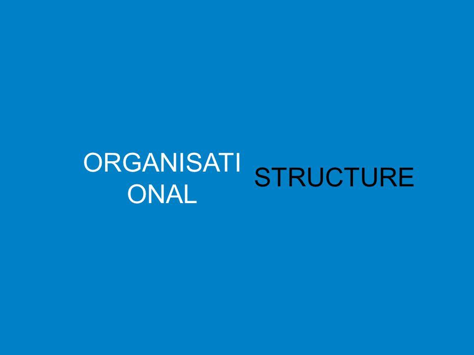 ORGANISATI ONAL STRUCTURE