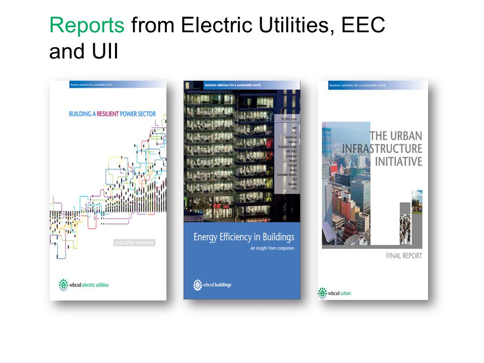 Reports from Electric Utilities, EEC and UII