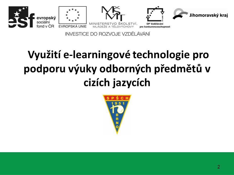 Využití e-learningové technologie pro podporu výuky odborných předmětů v cizích jazycích 2