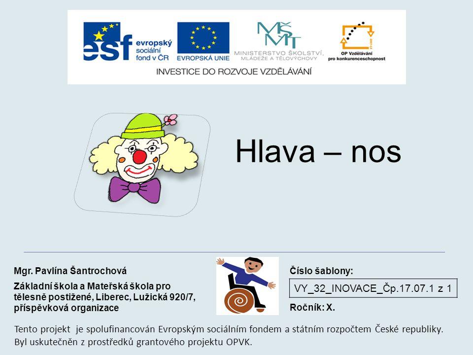 VY_32_INOVACE_Čp.17.07.1 z 1 Hlava – nos Mgr.