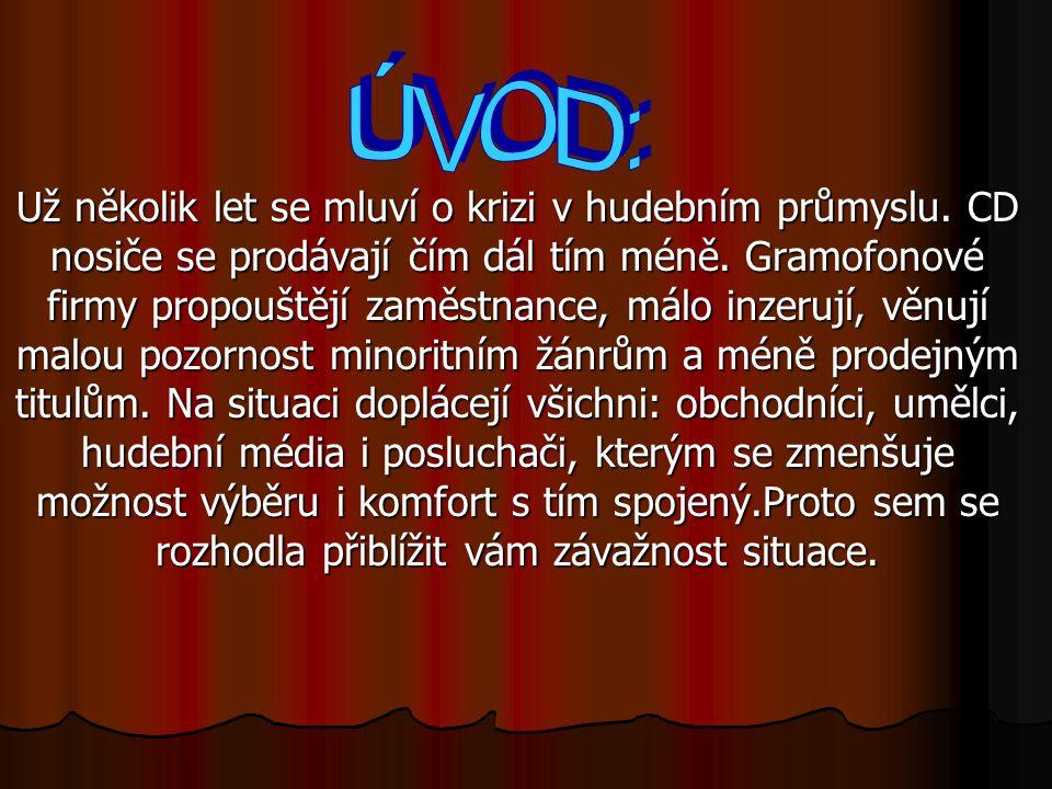 0.ÚVOD: I.Základní subjekty hudebního průmyslu: - Hudební vydavatelství, IFPI II.