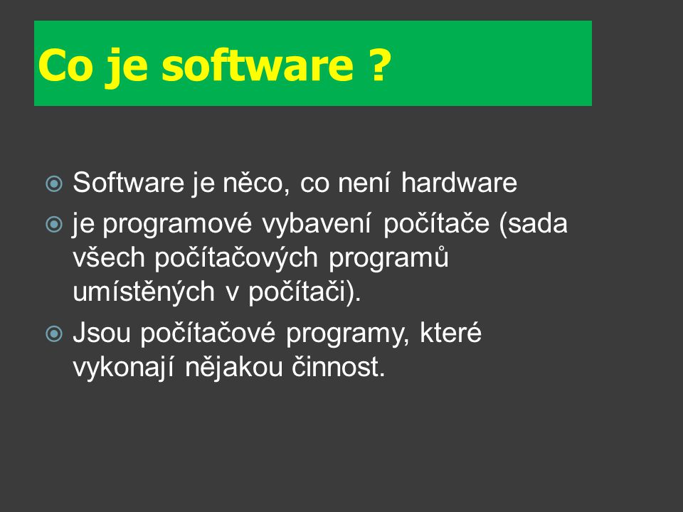 Co je software .