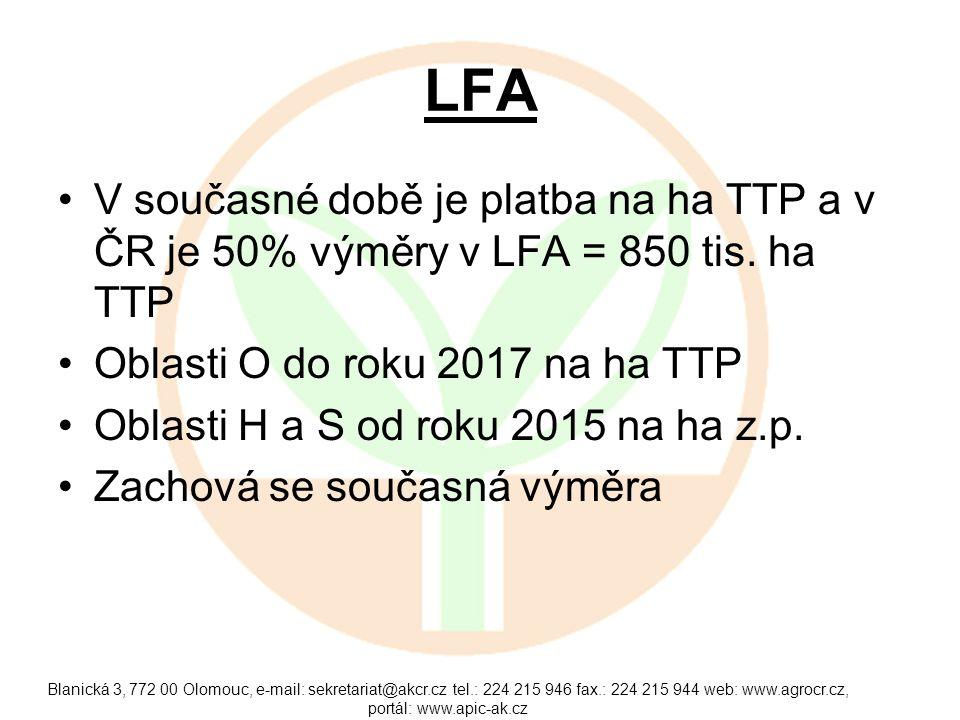 LFA Minimální zatížení 0,3 VDJ do roku 2017 a 0,35 VDJ / ha z.p.