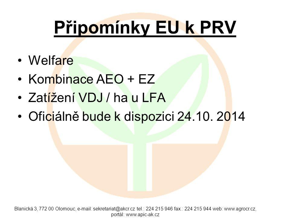 První kolo nového období Všechny investice v ŽV 75 % a RV 25% Termín cca .