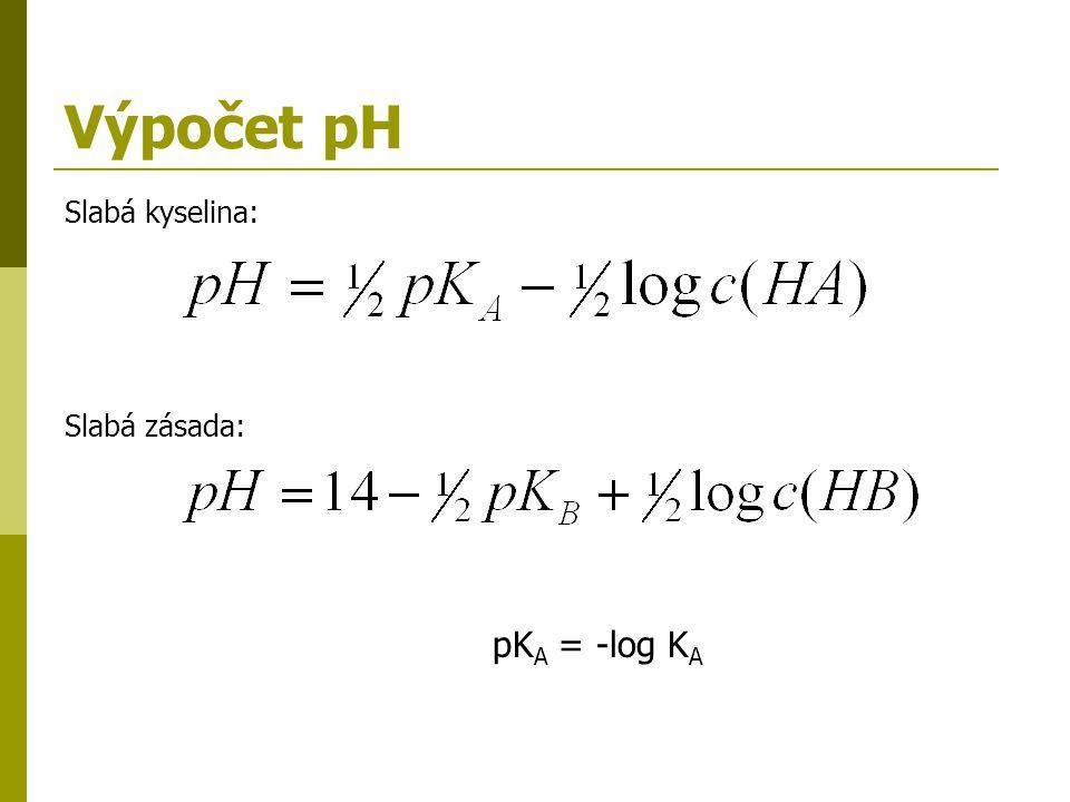 Příklady 1.Vypočítejte pH 0,001 M HCl. Jaká je koncentrace H 3 O + a OH - v tomto roztoku.