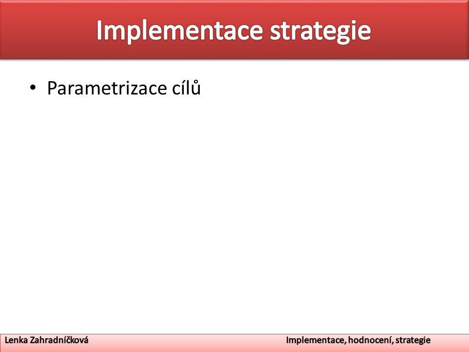 Parametrizace cílů