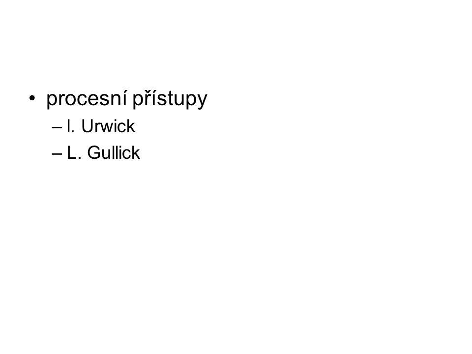 procesní přístupy –l. Urwick –L. Gullick
