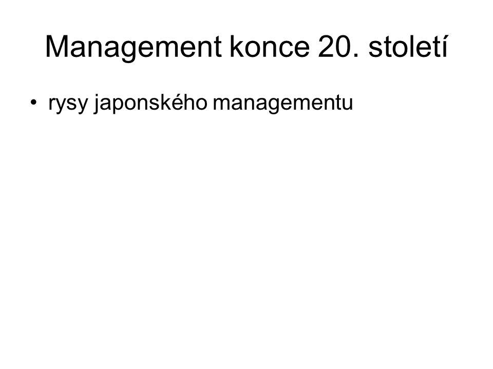 Management konce 20. století rysy japonského managementu