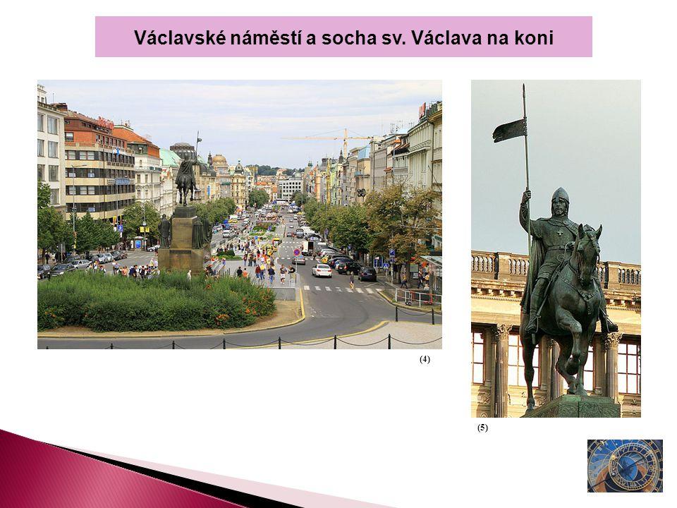 Václavské náměstí a socha sv. Václava na koni (4) (5)