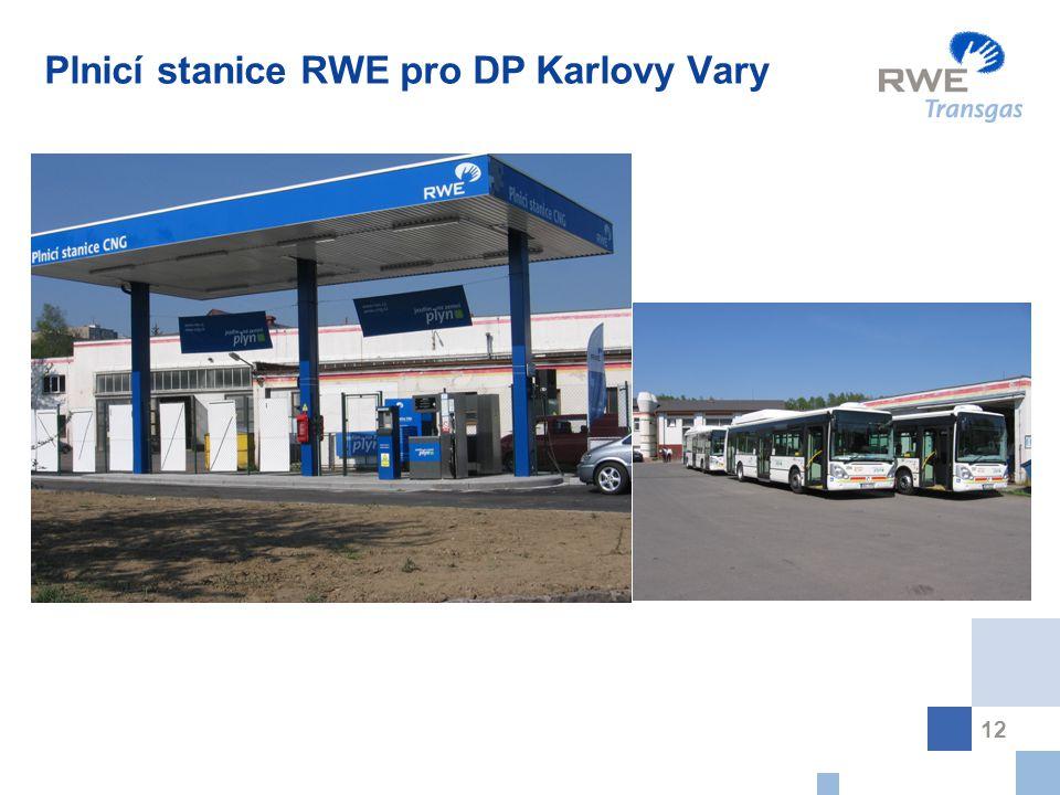 12 Plnicí stanice RWE pro DP Karlovy Vary