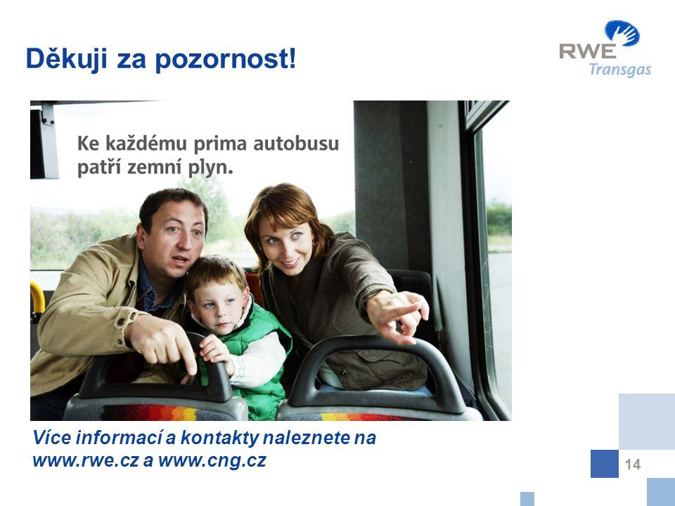 14 Děkuji za pozornost! Více informací a kontakty naleznete na www.rwe.cz a www.cng.cz