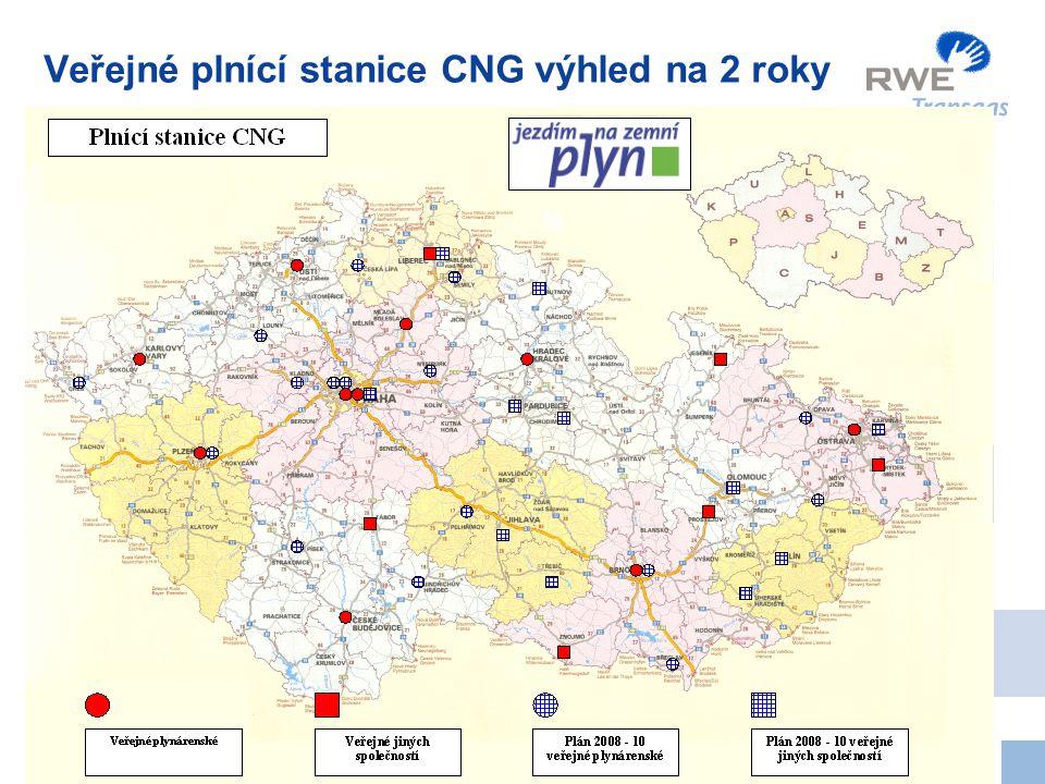 6 Veřejné plnící stanice CNG výhled na 2 roky