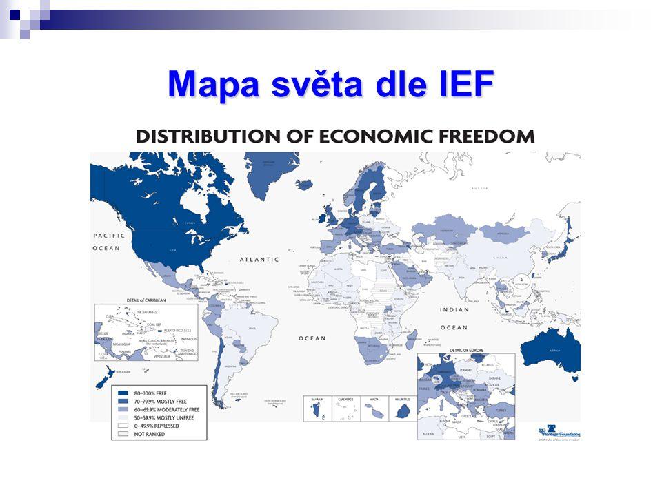 Mapa světa dle IEF