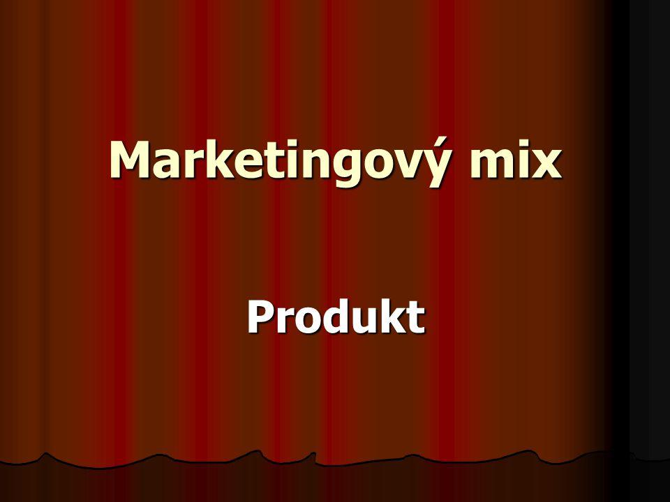 Úplný marketingový produkt Jádro produktu Formální produkt Rozšířený produkt Vnímaná hodnota produktu