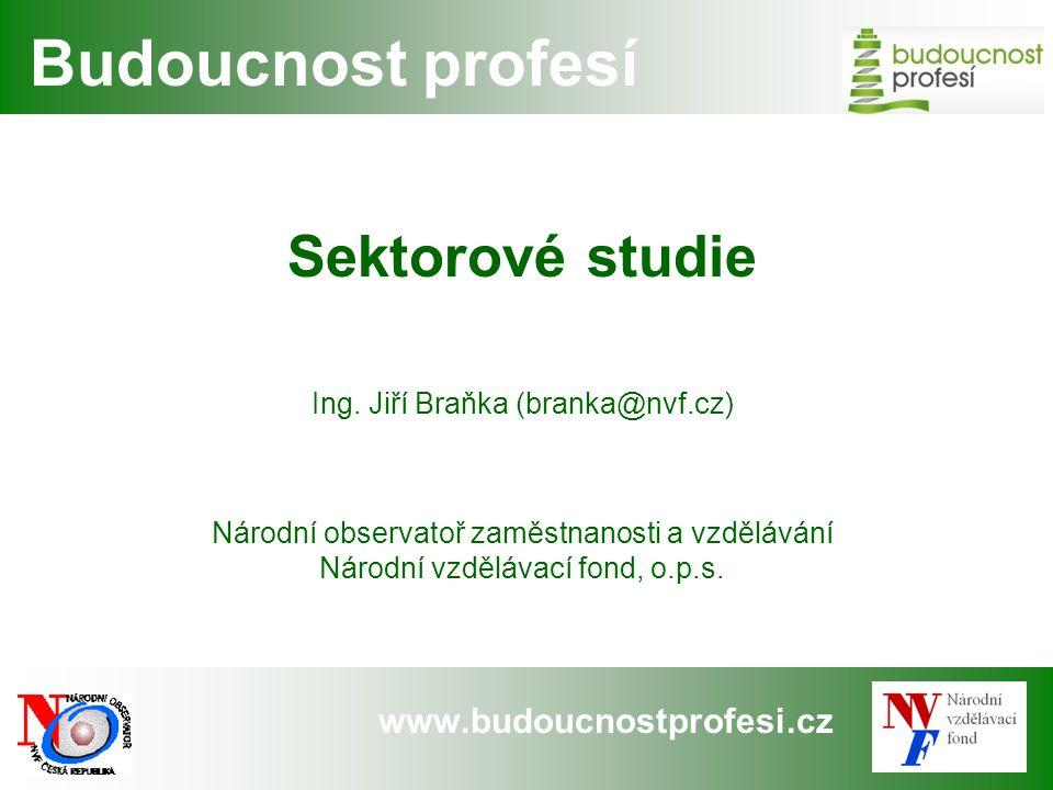 www.budoucnostprofesi.cz Budoucnost profesí Sektorové studie Ing.