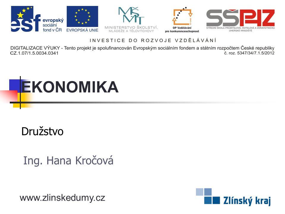 Družstvo Ing. Hana Kročová EKONOMIKA www.zlinskedumy.cz